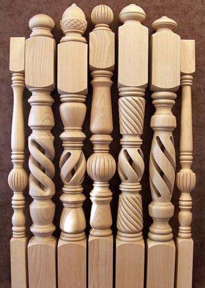 Balustres en bois- nos motifs magnifiques P007