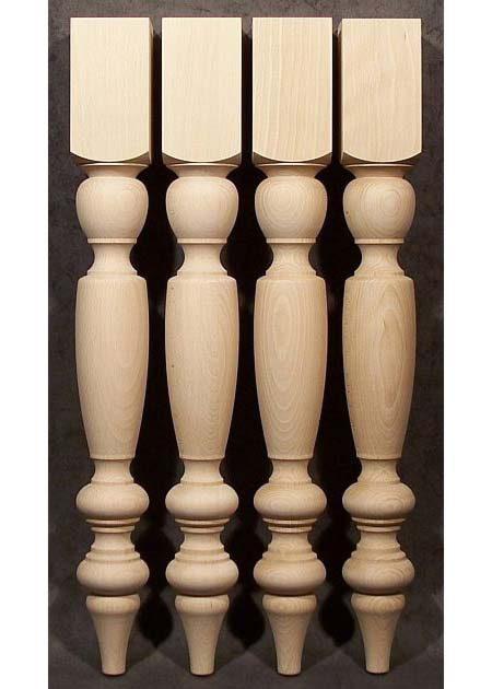 Pied de table bois, avec des motifs traditionnels TL66