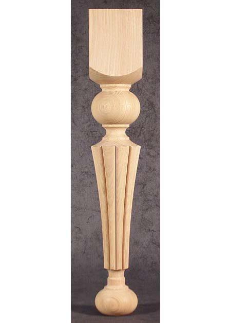 Pied de table bois, avec motif magnifique fraise TL38