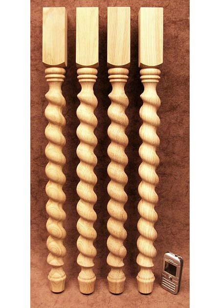 Pied de table decore de motifs torsades en spiral TL42