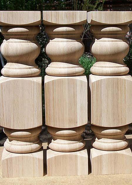 Pied de table en bois robuste TL01