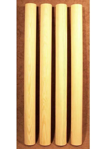 Pied de table en bois simple, de forme cylindrique TL47