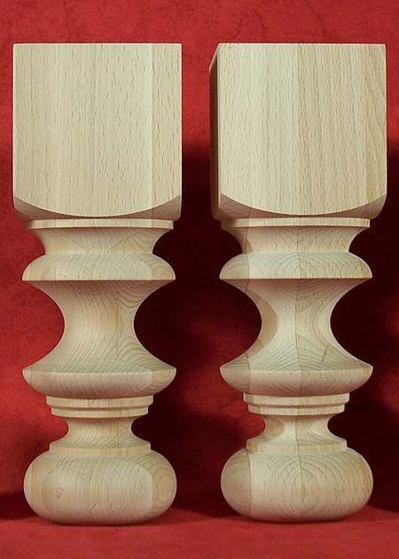 Pieds de table en bois de petite hauteur TL34